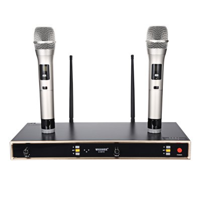 WEISRE U - 8010 UHF Wireless Microphone Set