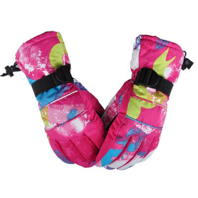 Paired Unisex Water Resistant Windproof Warm Ski Gloves
