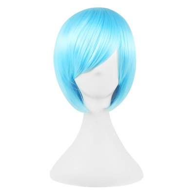 32cm Bob Short Straight Wigs Modify Face Synthetic Cosplay