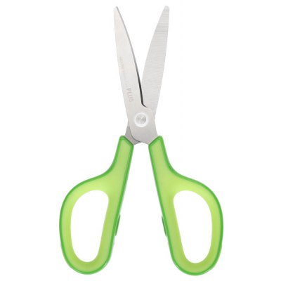 PLUS Skid Resistance Stainless Steel Scissors Office Stationery