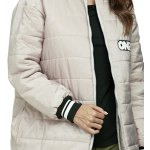 Women Casual Stand Collar Padded Baseball Down Coat for sale