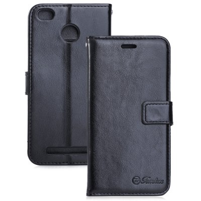 Tomkas Crazy Horse Series PU Leather Cover Case Wallet 2 in 1 with Card Slot for Xiaomi Redmi 3S / 3 Pro