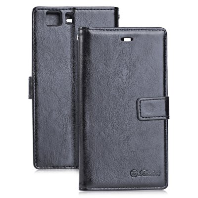 Tomkas Crazy Horse Series PU Leather Cover Case Wallet 2 in 1 with Card Slot for DOOGEE X5