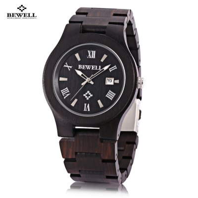 Bewell ZS - W127A Male Wooden Quartz Watch