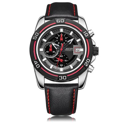 JEDIR 2023 Male Quartz WatchMens Watches<br>JEDIR 2023 Male Quartz Watch<br><br>Band Length: 8.27 inch<br>Band Material Type: Genuine Leather<br>Band Width: 20mm<br>Case material: Stainless Steel<br>Case Shape: Round<br>Clasp type: Pin Buckle<br>Dial Diameter: 1.77 inch<br>Dial Display: Analog<br>Dial Window Material Type: Sapphire<br>Feature: Luminous, Date<br>Gender: Men<br>Movement: Quartz<br>Package Contents: 1 x Watch<br>Package Size(L x W x H): 12.50 x 9.50 x 9.00 cm / 4.92 x 3.74 x 3.54 inches<br>Package weight: 0.292 kg<br>Product Size(L x W x H): 26.50 x 5.00 x 1.50 cm / 10.43 x 1.97 x 0.59 inches<br>Product weight: 0.085 kg<br>Style: Business<br>Water Resistance Depth: 30m