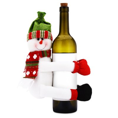 Xmas Wine Bottle Cover Decoration