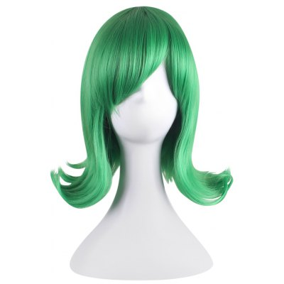 Medium Side Bangs Green Anti-alice Cosplay Wigs for Inside Out Yanyan Figure