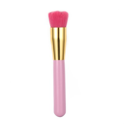 Pink Flower Shape Hair Makeup Foundation Blusher Brush