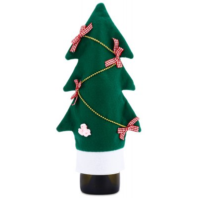 Christmas Wine Bottle Cover Tree Pattern Sweater