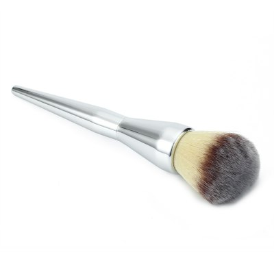 Silver Metal Color Professional Cosmetic Flawless Blush Powder Brush