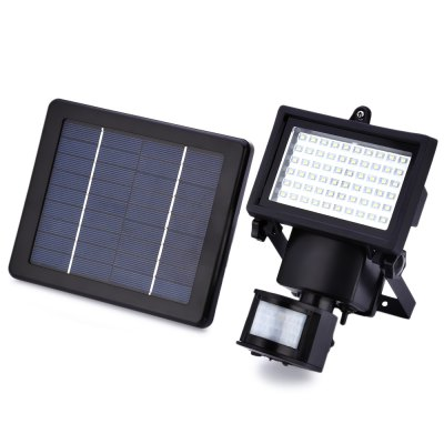 60 LEDs Solar Powered Waterproof Security Lamp