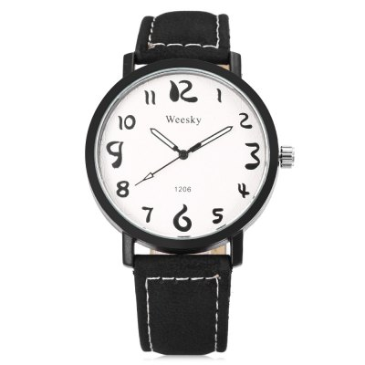 WEESKY 1206 Men Quartz WatchMens Watches<br>WEESKY 1206 Men Quartz Watch<br><br>Band Length: 7.96 inch<br>Band Material Type: Leather<br>Band Width: 18mm<br>Case material: Alloy<br>Case Shape: Round<br>Clasp type: Pin Buckle<br>Dial Diameter: 1.61 inch<br>Dial Display: Analog<br>Dial Window Material Type: Glass<br>Feature: Luminous<br>Gender: Men<br>Movement: Quartz<br>Package Contents: 1 x Watch<br>Package Size(L x W x H): 9.00 x 8.00 x 5.50 cm / 3.54 x 3.15 x 2.17 inches<br>Package weight: 0.093 kg<br>Product Size(L x W x H): 24.50 x 4.30 x 1.00 cm / 9.65 x 1.69 x 0.39 inches<br>Product weight: 0.035 kg<br>Style: Fashion &amp; Casual