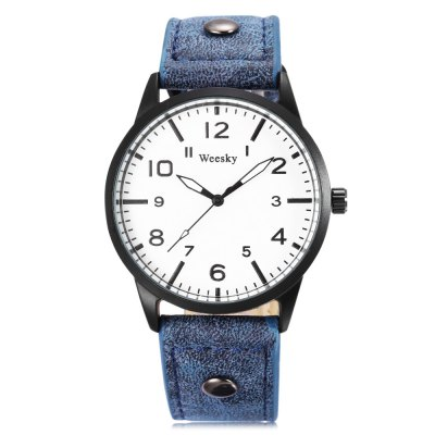 WEESKY 1203 Men Quartz WatchMens Watches<br>WEESKY 1203 Men Quartz Watch<br><br>Band Length: 8.27 inch<br>Band Material Type: Leather<br>Band Width: 20mm<br>Case material: Alloy<br>Case Shape: Round<br>Clasp type: Pin Buckle<br>Dial Diameter: 1.71 inch<br>Dial Display: Analog<br>Dial Window Material Type: Glass<br>Feature: Luminous<br>Gender: Men<br>Movement: Quartz<br>Package Contents: 1 x Watch<br>Package Size(L x W x H): 9.00 x 8.00 x 5.50 cm / 3.54 x 3.15 x 2.17 inches<br>Package weight: 0.095 kg<br>Product Size(L x W x H): 25.50 x 4.50 x 1.00 cm / 10.04 x 1.77 x 0.39 inches<br>Product weight: 0.037 kg<br>Style: Fashion &amp; Casual