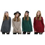 best Trendy Long Sleeve Knitted Pure Color Women Sweater