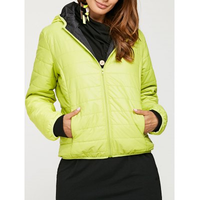 Hooded Pure Color Women Down Coat