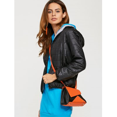 Women Brief Hooded Pure Color Down Coat