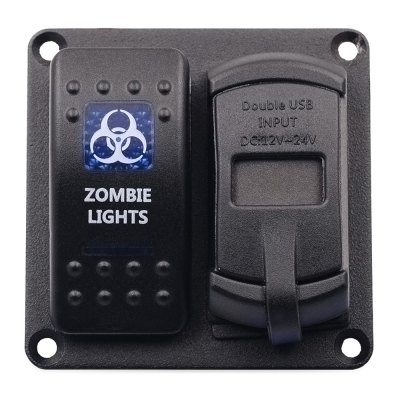 Vehicle Switch Panel LED Backlight Voltmeter