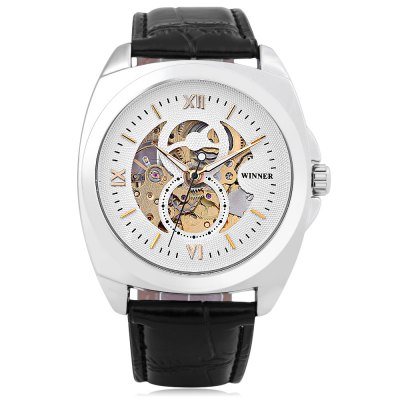 Winner 8063 Auto Mechanical Men WatchMens Watches<br>Winner 8063 Auto Mechanical Men Watch<br><br>Band Length: 8.27 inch<br>Band Material Type: Leather<br>Band Width: 20mm<br>Case material: Alloy<br>Case Shape: Square<br>Clasp type: Pin Buckle<br>Dial Diameter: 1.57 inch<br>Dial Display: Analog<br>Dial Window Material Type: Hardlex<br>Feature: Luminous<br>Gender: Men<br>Movement: Automatic Self-Wind<br>Package Contents: 1 x Watch<br>Package Size(L x W x H): 27.00 x 5.50 x 2.00 cm / 10.63 x 2.17 x 0.79 inches<br>Package weight: 0.092 kg<br>Product Size(L x W x H): 26.00 x 4.50 x 1.00 cm / 10.24 x 1.77 x 0.39 inches<br>Product weight: 0.071 kg<br>Style: Business