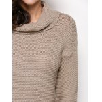 best Turtleneck Long Sleeve Pure Color Knitted Sweater