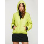 cheap Women Brief Hooded Pure Color Down Coat