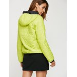 Women Brief Hooded Pure Color Down Coat for sale