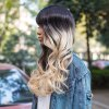 best AISIHAIR Long Shaggy Side Bangs Wavy Synthetic Wig