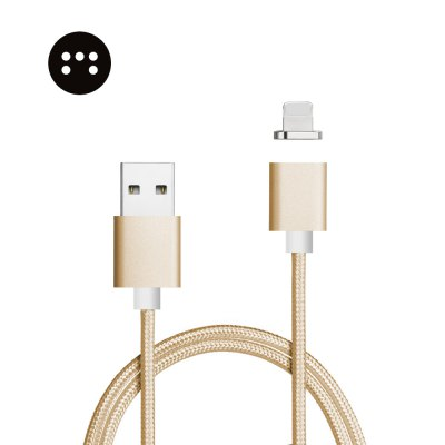 Moizen M2sr Magnetic Charger Data Transmission Cable for iPhone 1M