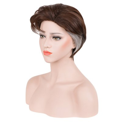 Layered Short Fluffy Natural Straight Synthetic Cosplay Wigs