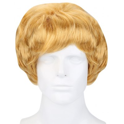 Net Golden Short Curly Wig Cosplay