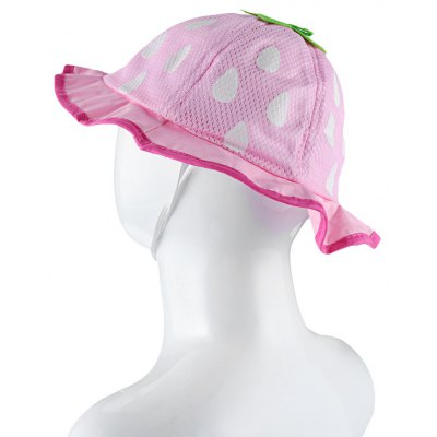 Strawberry Design Baby Girls Sun Protection Princess Hat