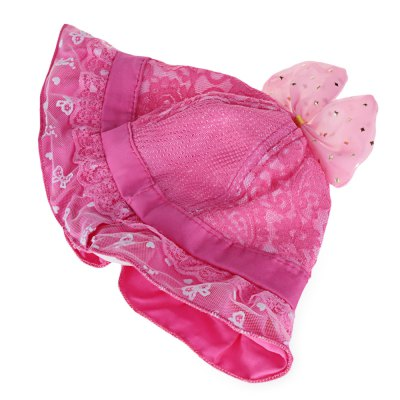Bowknot Design Lace Decoration Baby Girls Hat