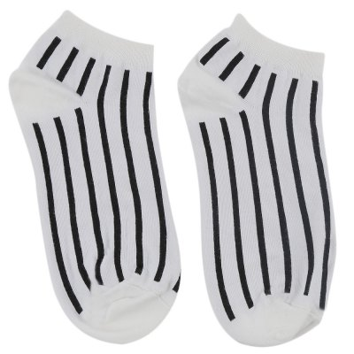 Black and White Design Ladies Cotton Socks