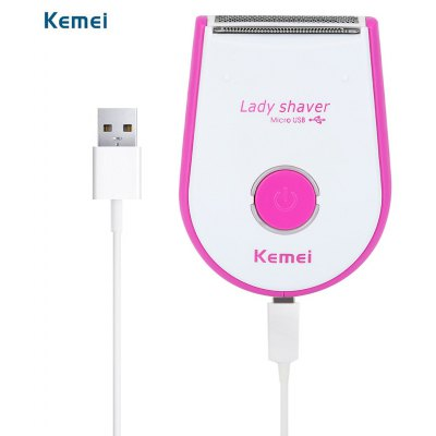 Kemei KM - 2201 Mini USB Rechargeable Electric Skin-friendly Hair Remover Shaver