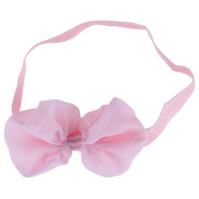 Bow Tie Decoration Pure Color Chiffon Babies Hairband