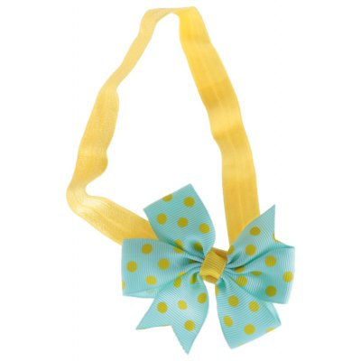 Bow Tie Dot Decoration Color Block Babies Hairband