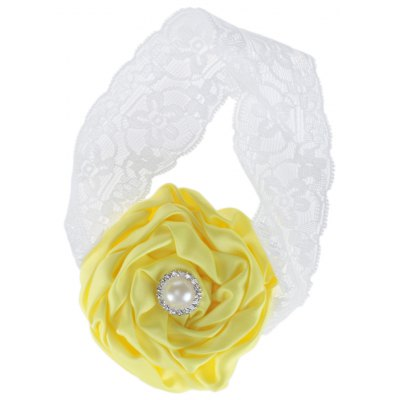Rose Rhinestone Design Lace Decoration Baby Girls Hair Band