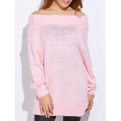 Off The Shoulder Pure Color Women Pullover