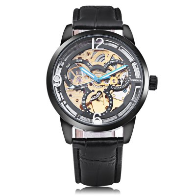 Winner 275 Men Auto Mechanical WatchMens Watches<br>Winner 275 Men Auto Mechanical Watch<br><br>Band Length: 8.27 inch<br>Band Material Type: Leather<br>Band Width: 18mm<br>Case material: Alloy<br>Case Shape: Round<br>Clasp type: Pin Buckle<br>Dial Diameter: 1.57 inch<br>Dial Display: Analog<br>Dial Window Material Type: Hardlex<br>Feature: Luminous<br>Gender: Men<br>Movement: Automatic Self-Wind<br>Package Contents: 1 x Watch<br>Package Size(L x W x H): 26.50 x 5.50 x 2.00 cm / 10.43 x 2.17 x 0.79 inches<br>Package weight: 0.083 kg<br>Product Size(L x W x H): 25.50 x 4.50 x 1.00 cm / 10.04 x 1.77 x 0.39 inches<br>Product weight: 0.062 kg<br>Style: Business