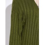 Women Simple Collarless Knitted Cardigan for sale