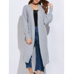 Women Simple Collarless Knitted Cardigan
