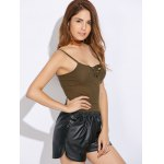 Women Faux Leather Shorts for sale