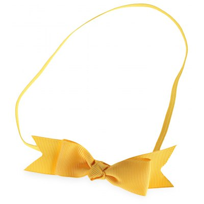 Bowknot Design Solid Color Baby Girls Elastic Hair Band
