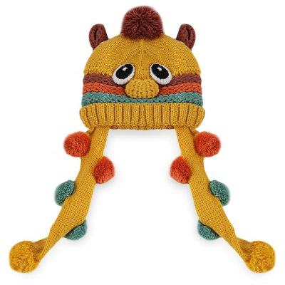 Funny Animal Pom Pom Babies Knitted Hat
