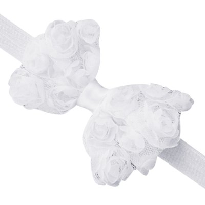 Bowknot Lace Design Baby Girls Elastic Band Headwear