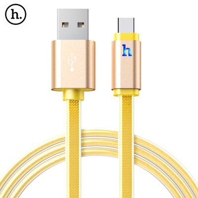HOCO UPL12 2.4A Jelly Type-C Braided Cable with Light 1.2M