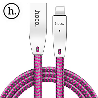 HOCO U11 2.4A Zinc Alloy Reflective Braided Cable for iPhone