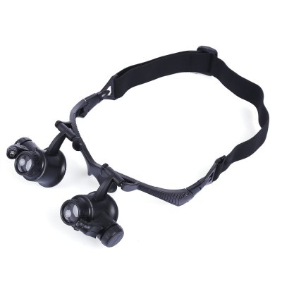 10X 15X 20X 25X Headband Magnifier with 2 LEDs Light