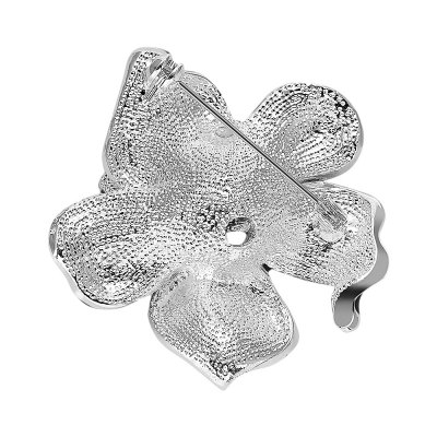 Fashion Zircon Rhinestone Platinum Plated Brooch