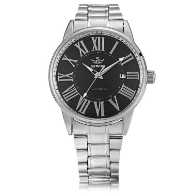 SEWOR SW011 Men Auto Mechanical WatchMens Watches<br>SEWOR SW011 Men Auto Mechanical Watch<br><br>Band Length: 8.66 inch<br>Band Material Type: Stainless Steel<br>Band Width: 18mm<br>Case material: Alloy<br>Case Shape: Round<br>Clasp type: Folding Clasp<br>Dial Diameter: 1.69 inch<br>Dial Display: Analog<br>Dial Window Material Type: Hardlex<br>Feature: Luminous, Date<br>Gender: Men<br>Movement: Automatic Self-Wind<br>Package Contents: 1 x Watch<br>Package Size(L x W x H): 12.00 x 5.50 x 2.40 cm / 4.72 x 2.17 x 0.94 inches<br>Package weight: 0.128 kg<br>Product Size(L x W x H): 22.00 x 4.50 x 1.40 cm / 8.66 x 1.77 x 0.55 inches<br>Product weight: 0.107 kg<br>Style: Business