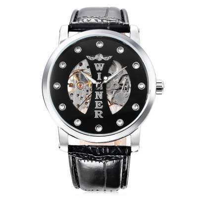 Winner W142 Male Auto Mechanical WatchMens Watches<br>Winner W142 Male Auto Mechanical Watch<br><br>Band Length: 8.27 inch<br>Band Material Type: Leather<br>Band Width: 20mm<br>Case material: Alloy<br>Case Shape: Round<br>Clasp type: Pin Buckle<br>Dial Diameter: 1.57 inch<br>Dial Display: Analog<br>Dial Window Material Type: Hardlex<br>Feature: Luminous<br>Gender: Men<br>Movement: Automatic Self-Wind<br>Package Contents: 1 x Watch<br>Package Size(L x W x H): 26.50 x 5.80 x 2.00 cm / 10.43 x 2.28 x 0.79 inches<br>Package weight: 0.084 kg<br>Product Size(L x W x H): 25.50 x 4.80 x 1.00 cm / 10.04 x 1.89 x 0.39 inches<br>Product weight: 0.063 kg<br>Style: Business
